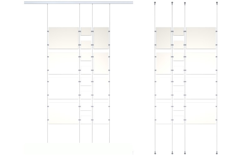 Тросовые системы подвеса фиксированные display-it_Artiteq