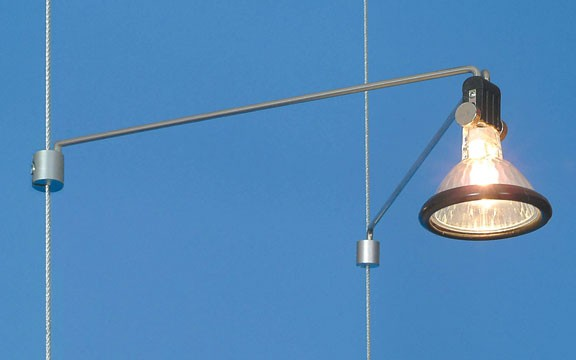 Подсветка на фиксированную тросовую систему