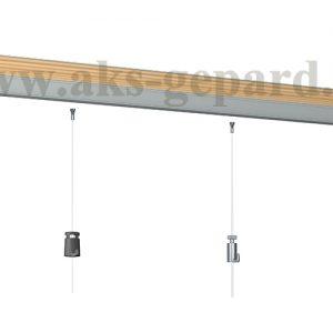 """Настенная подвесная система картин """"Art Strip Rail"""" для подвесных потолков"""